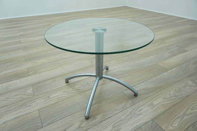 Circular Glass Office Coffee Table
