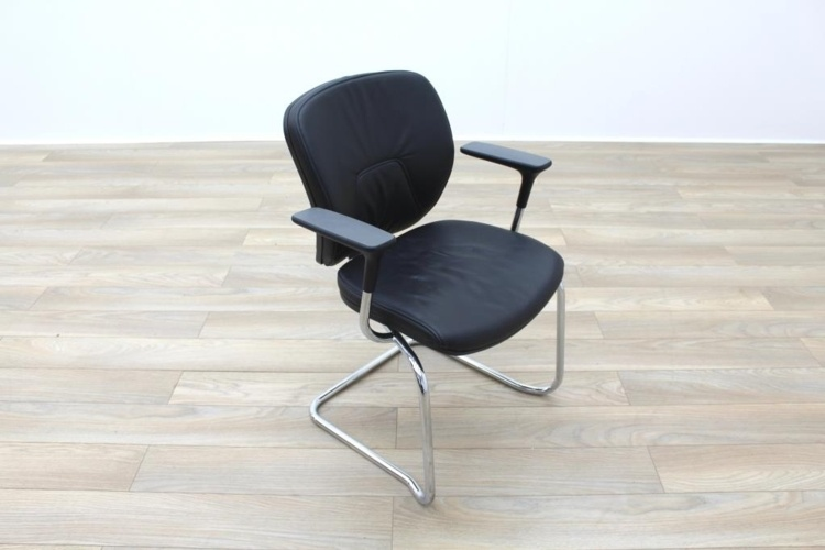 Orangebox Joy Black Leather Executive Office Meeting Chair