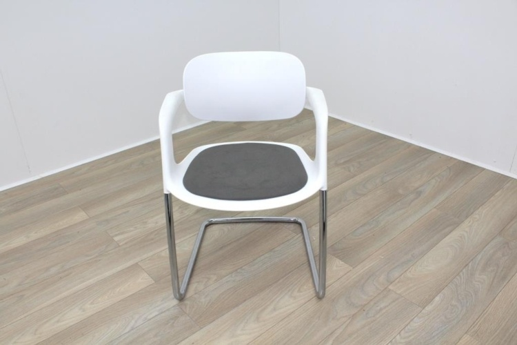 Allermuir A781 White with Grey Seat Meeting Chair