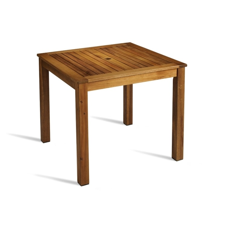 New HARDY Solid Wood Café Canteen Square Table