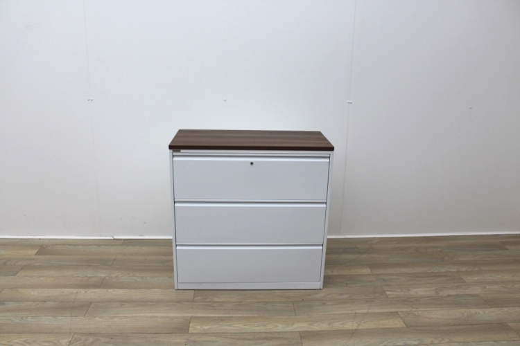 White Triumph Three Drawer Side-Filing Cabinet