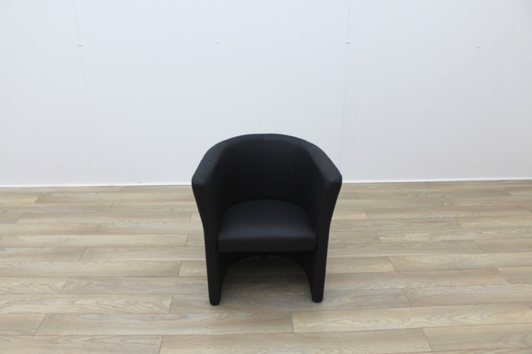 Black Faux Leather Reception Chairs