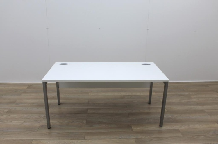 White 1600mm Straight Office Desks