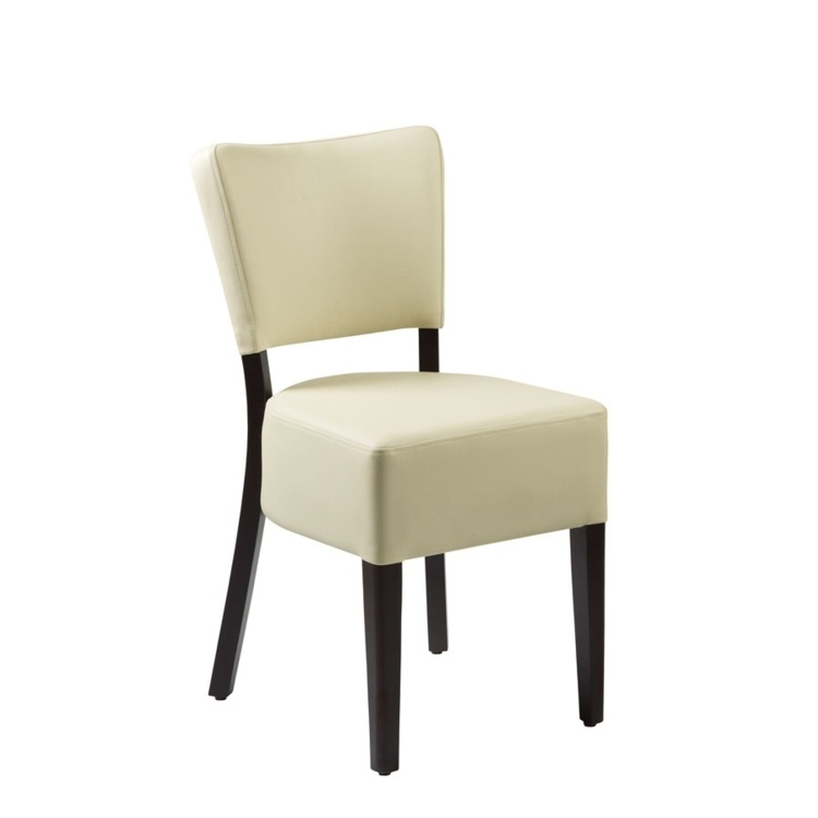 New CLUB Wenge Cream high quality faux leather Luxurious side chair