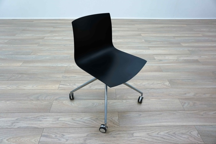 Aper Catifa 46 Black Plastic Office Meeting Chairs