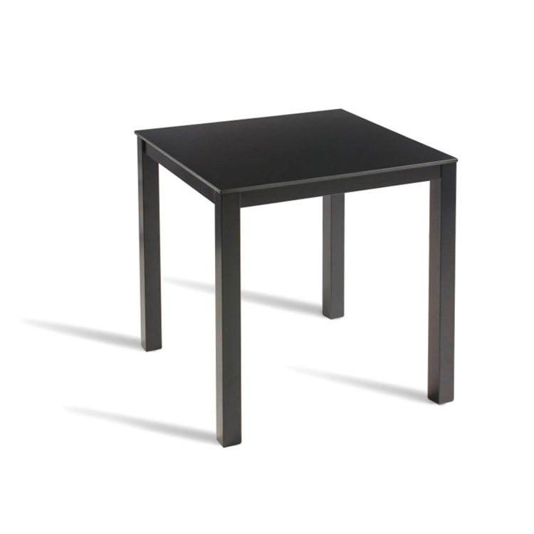 New LUCK Powder Coated Extrema Top and Paris Base Canteen 2 Seater Square Dining Table