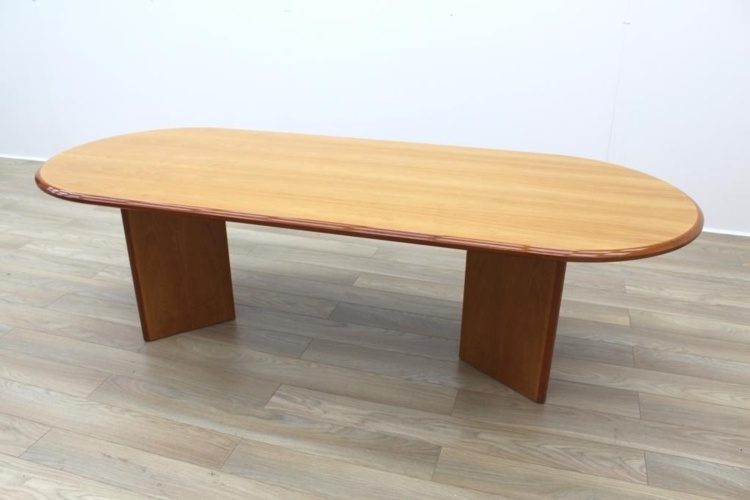 Cherry Veneer 2500mm Racetrack Executive Office Meeting Table