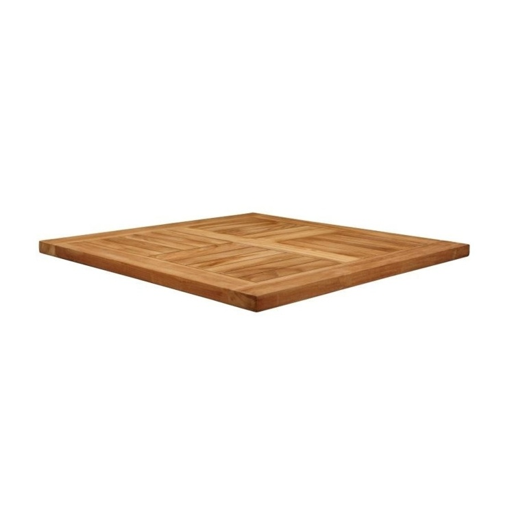 New MALAY Teak 800mm Square Table Top