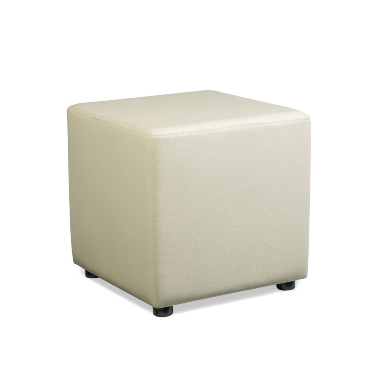 New POP Cream High Quality Faux Leather Cube