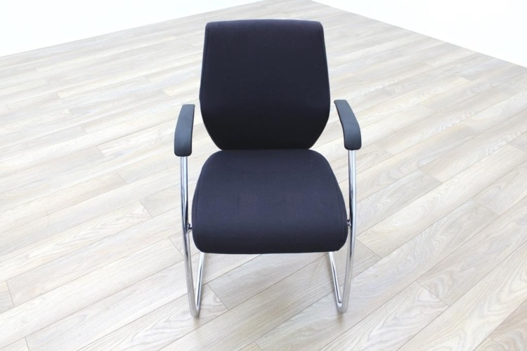 Orangebox Black Fabric Cantilever Office Meeting Chair