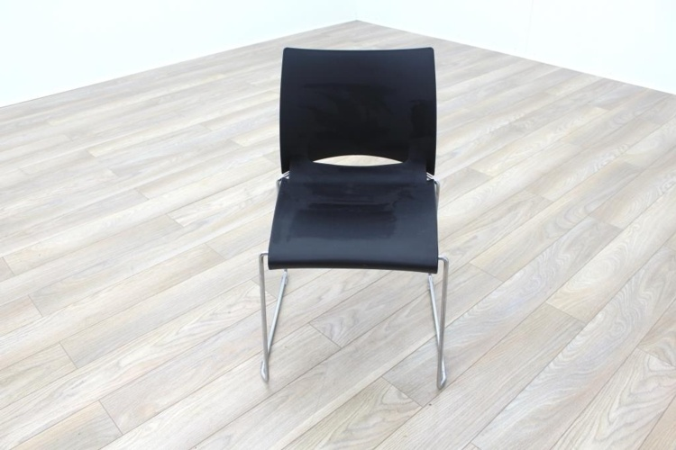 Icon Patra Black Office Canteen Chairs