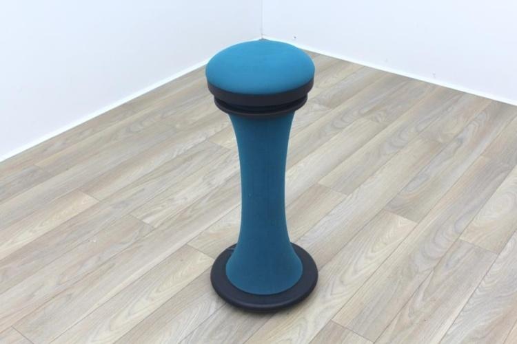 Brunner Blue Fabric Bar Stool