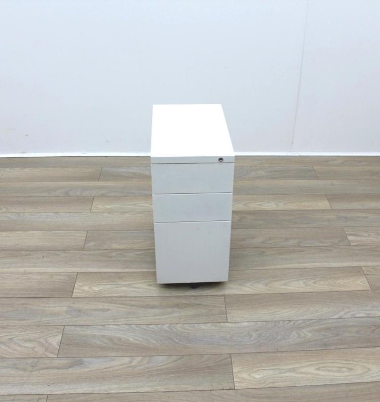 White Slim Under Desk Pedestals