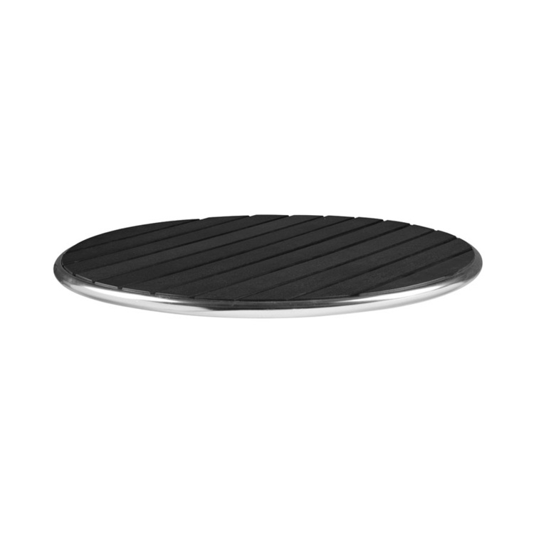 New LIKEWOOD Black 700mm Dia Round Table