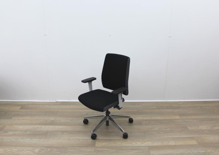 Senator Operator Chairs With White Back And Fabric Seat
