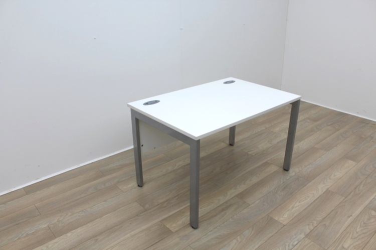 White 1200mm Straight Office Desks