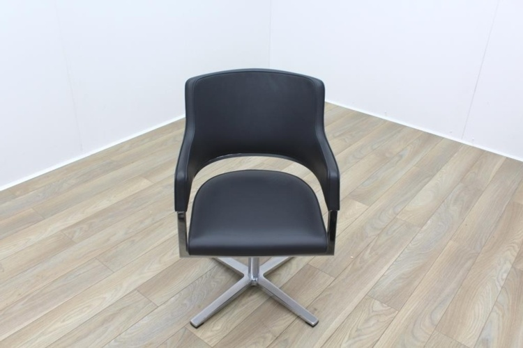 Brunner Grey Leather Executive Meeting Chair