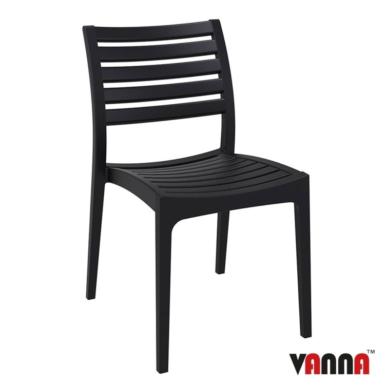 New Black Reinforced Polypropylene & Glass Fibre Stacking Office Canteen Bistro Cafe Chairs