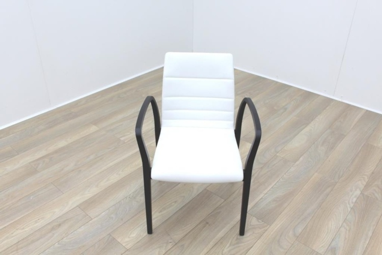 Brunner White Leather Meeting Chair