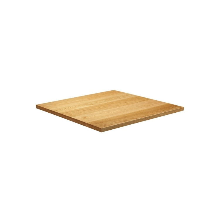 New Natural Lacquered Deluxe 600mm Square Solid Oak Table Top