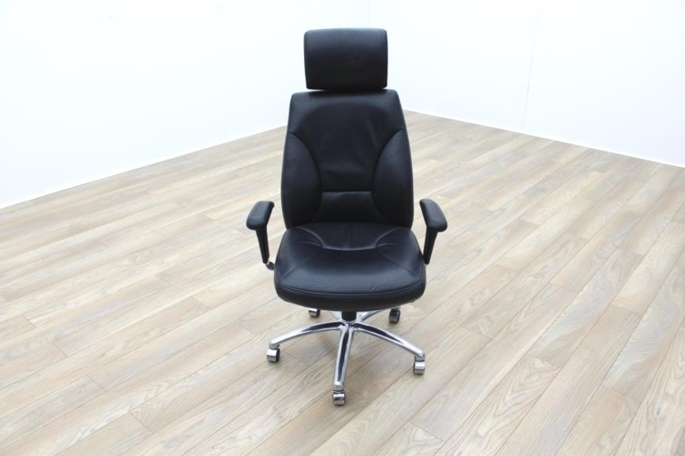 high back black leather executive office task managers chairs ebay
