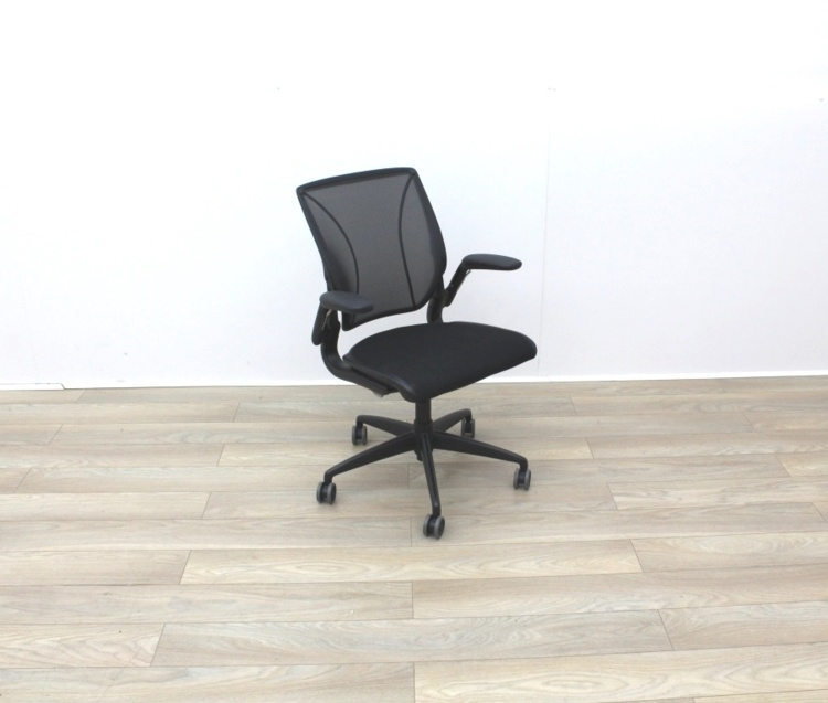 Humanscale Diffrient World Black Mesh Back And Fabric Seat Office Task Chairs