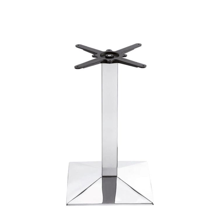 New HAMPTON Chrome Small Square Dining Table Base