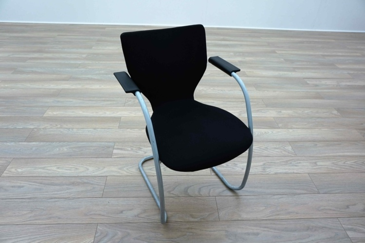 Orangebox X10 Black Fabric Cantilever Office Meeting Chairs