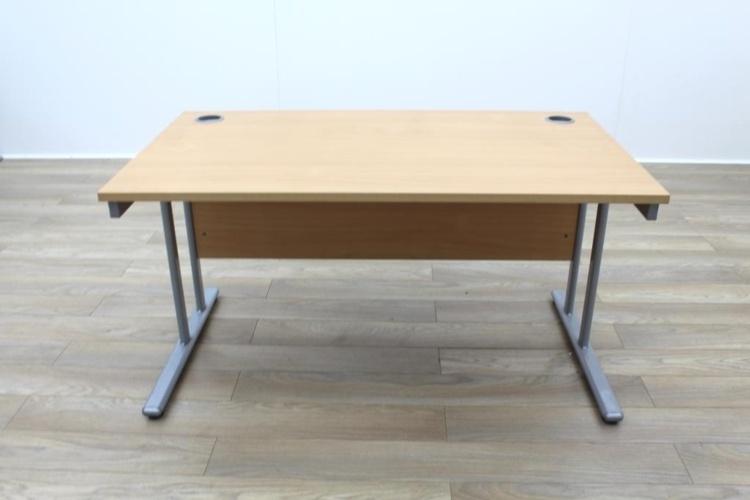 Beech 1400mm Straight Office Desks