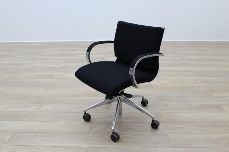 ICF Black Fabric Executive Office Task Chairs