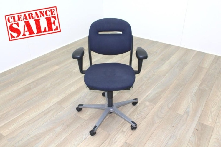 Ahrend Blue Fabric Operator Chair