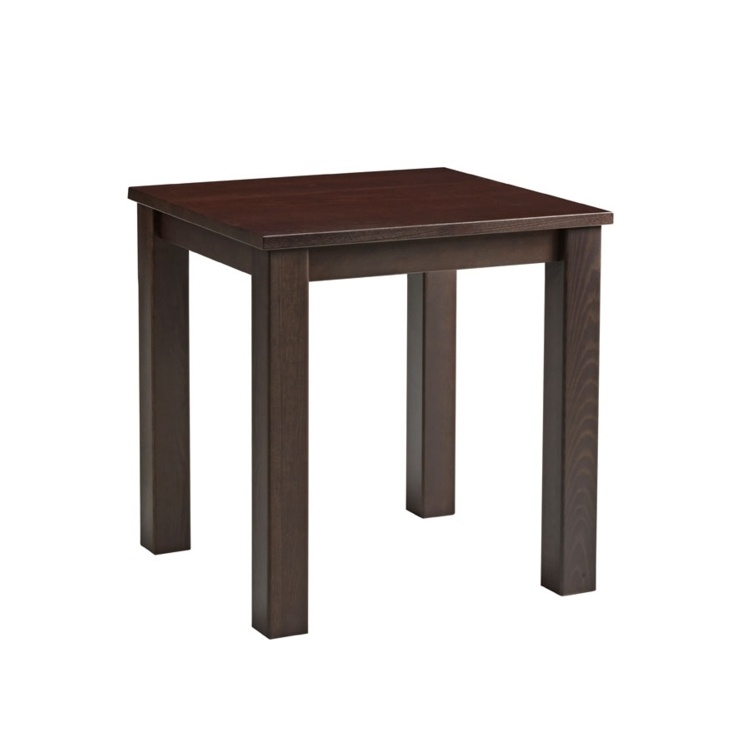 New MIST Dark Walnut Stained Solid Beech and Ash Small Square Bar Table