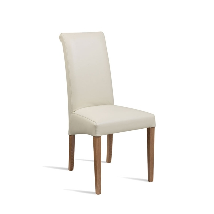 New LYNX Cream Luxurious Upolstered High Quality Faux Leather Side Chair