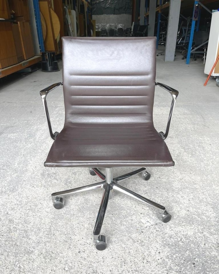 Brown Leather ICF Operator Chair