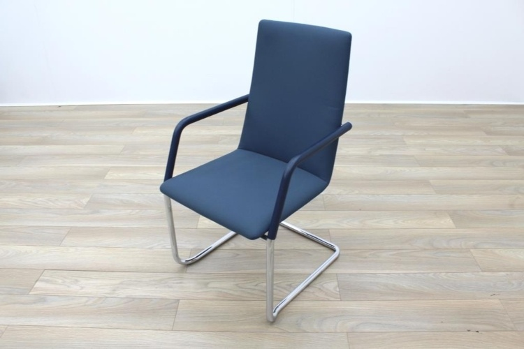 Brunner Fina Soft Blue Fabric Cantilever Office Meeting Chairs