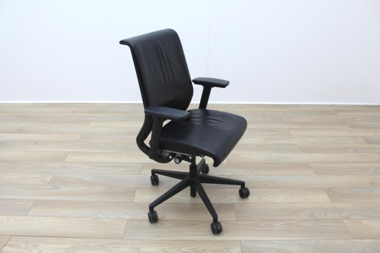 Steelcase Think Black Leather Office Task Chairs