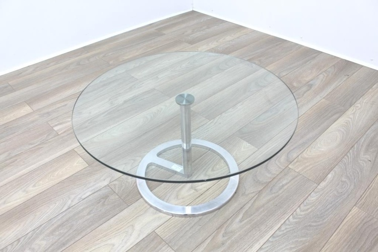 Boss Design Rota Circular Glass Office Coffee Table
