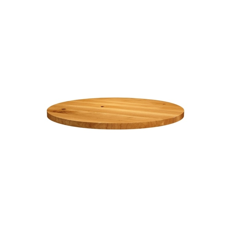 New Natural Laquered Character Superior Grade Oak 750mm Round Table Top
