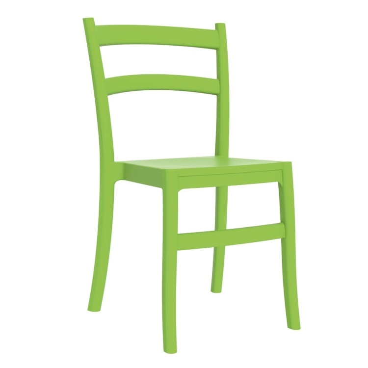 New Green Polypropylene & Glass Fibre Office Canteen Bistro Cafe Side Chairs