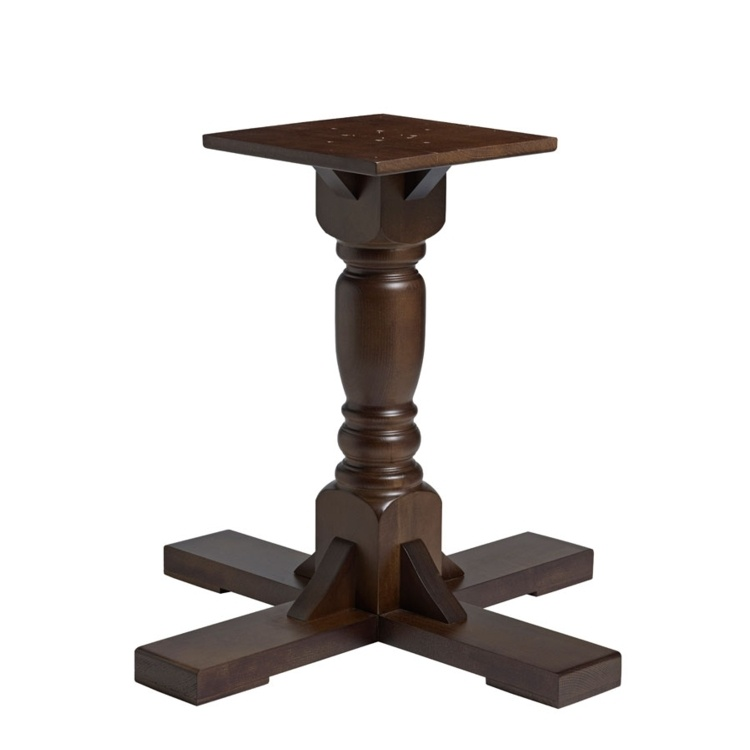New PORT Dark Walnut Solid Beech Large Table Base