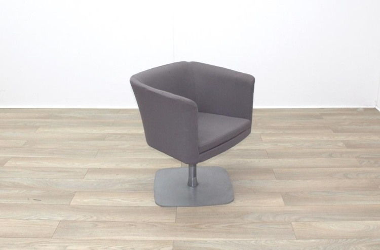 Grey Fabric Office Reception Tub Chairs