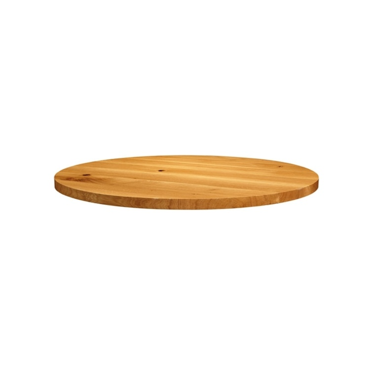 New Natural Laquered Character Superior Grade Oak 1200mm Round Table Top