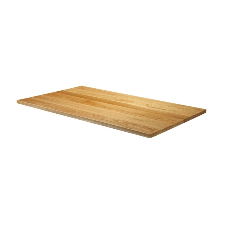 New Natural Lacquered Deluxe Rectangular Solid Oak Table Top