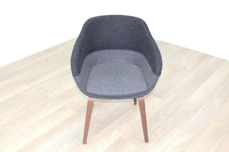 Brunner Grey Fabric Reception Tub Chair