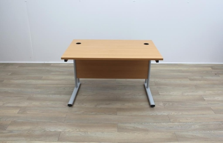 Beech Cantilever Desks With Courtesy Panel