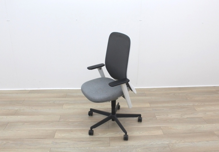 Bene Operator Chair With Grey Seat and Black Mesh Back