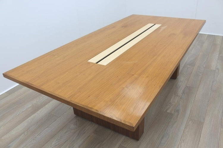 Sven Christiansen 2400mm Solid Walnut / Maple Executive Office Meeting Table