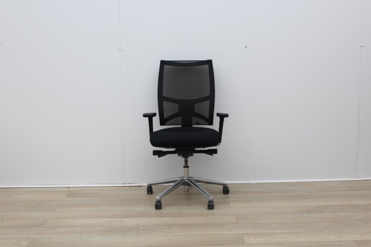 Sitland Operator Chair With Chrome Back And Chrome Legs