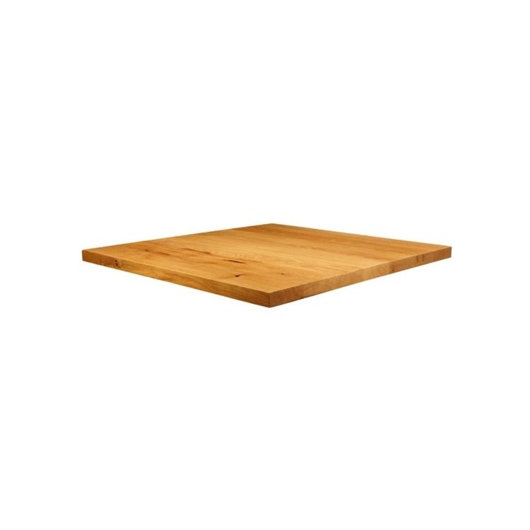 New Natural Laquered Character Superior Grade Oak 700mm x 700mm Square Table Top