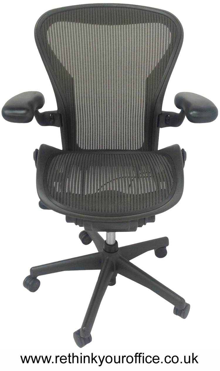 herman miller aeron size b graphite office task chairs ebay